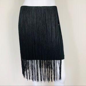 ZZ-23: Rag & Bone black tassle skirt size 4